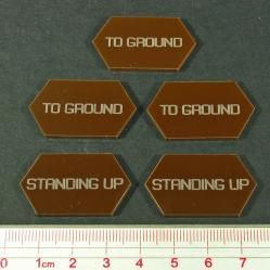 Battletech  - Tokens & Markers: Standing Up  - To Ground Tokens