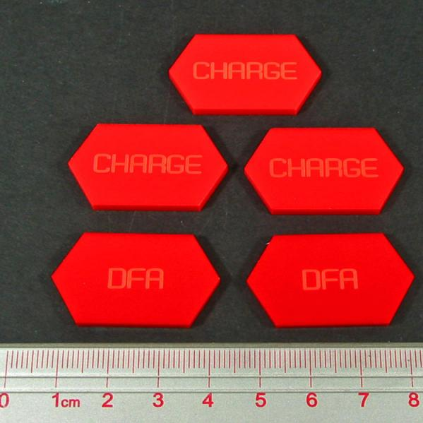 Battletech  - Tokens & Markers: Charge � DFA Tokens