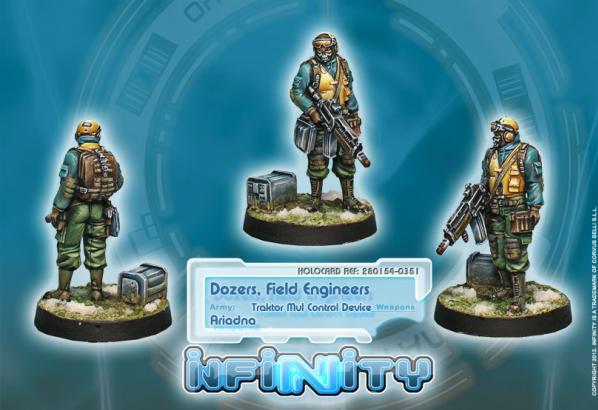 Infinity (#351) Ariadna: Dozers, Field Engineers (Traktor Mul Control Device)(1)