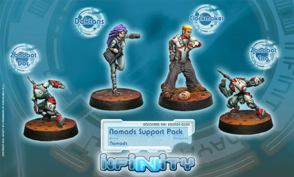Infinity (#354) Nomads: Nomads Support Pack  (4)