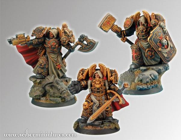 28mm Fantasy Miniatures:28mm Templar SF Knights set2