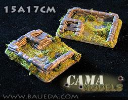 Cama Scenics (15mm WWII): Large Heavy Mortar Scenic Bases