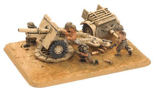 Flames of War: 8th Army 25 pdr Gun (x2)