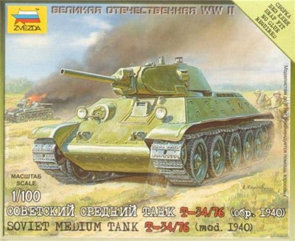 15mm World War II: Soviet Medium Tank - T-34/76 (1940 model)