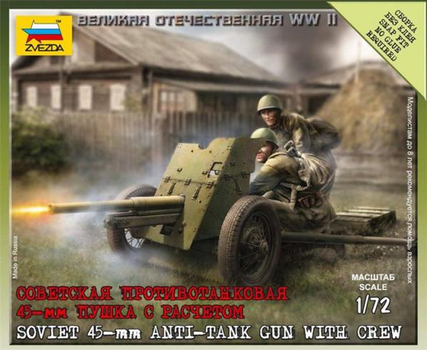 20mm World War II: Soviet Gun with Crew (45mm)