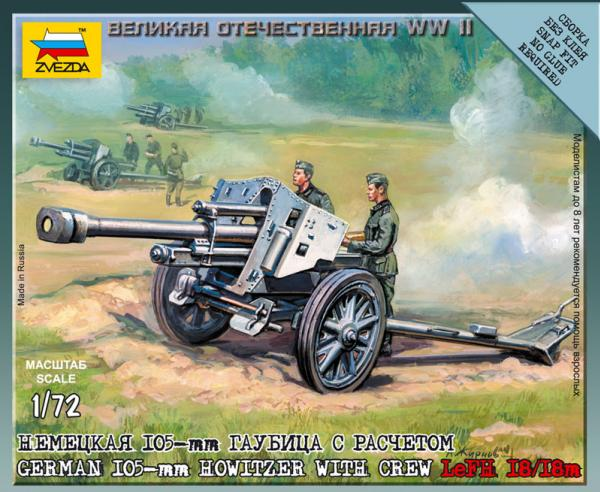 20mm World War II: German Howitzer - LeFH-18/18 M