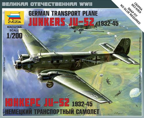 1/200 World War II: German Transport Plane - Junkers JU-52