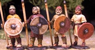 SAGA: Viking Age: (Anglo-Saxon) Geburs w/Spears & Shield (Levy)