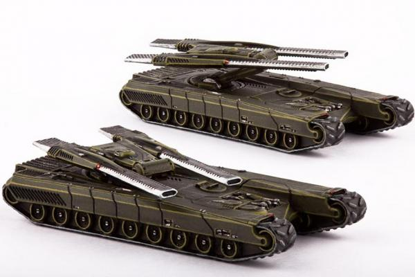 Dropzone Commander: (United Colonies Of Mankind) Gladius Heavy Battle Tanks (2)