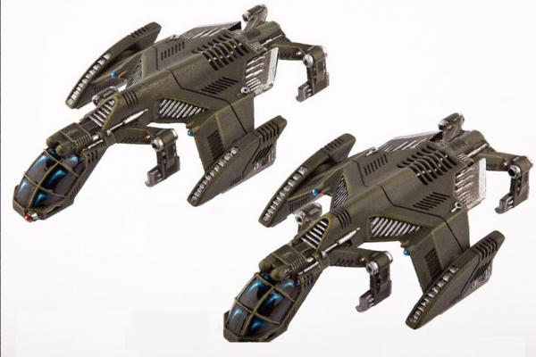 (United Colonies Of Mankind) Raven Type-B Light Dropships (2)