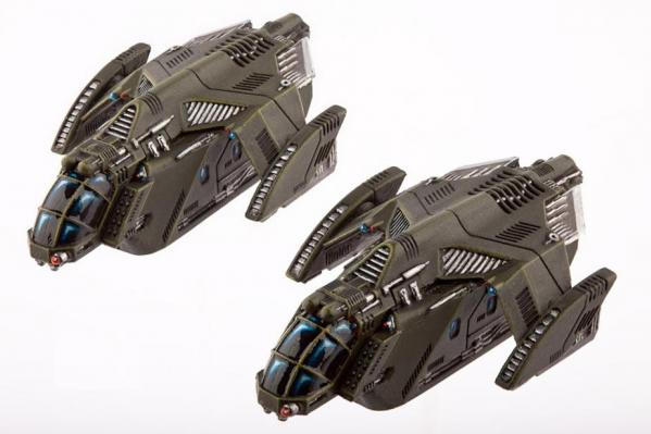 (United Colonies Of Mankind) Raven Type-A Light Dropships (2)