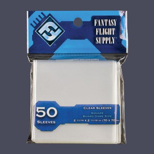 Light Blue Label: Square Card Game Sleeves (50)