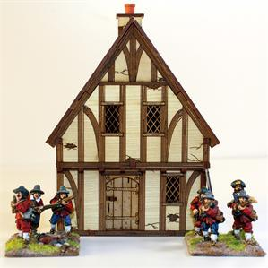 28mm ECW/Renaissance Terrain: Pre-Painted Tudor Timber Frame Cottage