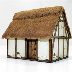 28mm Dark Age/Medieval Terrain: Pre-Painted Late Saxon/ High Med Hovel