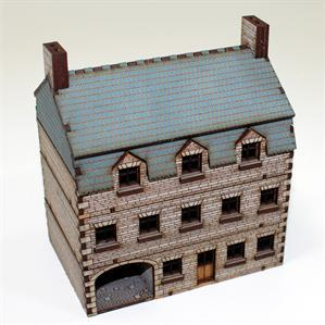 15mm European Buildings: Pre-Painted Stone Hotel