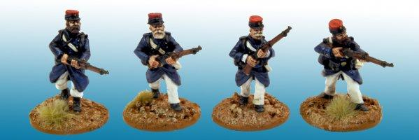 28mm March or Die: Legionaires in Uncovered Kepi.