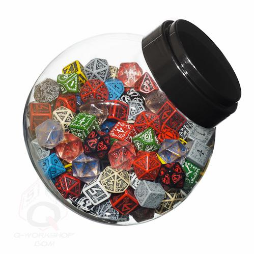Exotic Dice Sets: Jar of Dice With d6,d10,d20 (150)