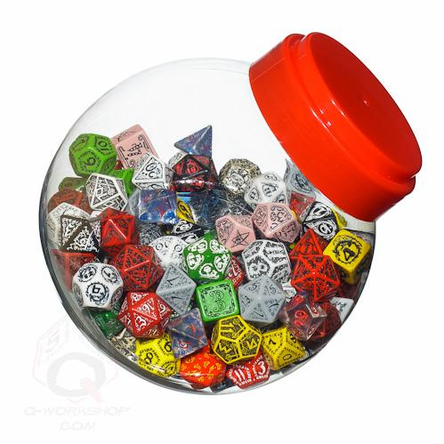 Exotic Dice Sets: Jar of Dice With d4,d6,d8,d10,d12,d20,d100 (150)