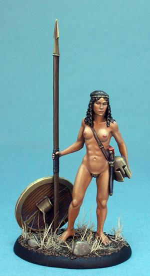 Visions In Fantasy: Spartan Warrior (Female Nude Study)