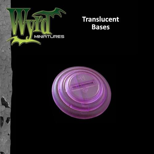Malifaux: (Bases) Purple Translucent 50mm (3)