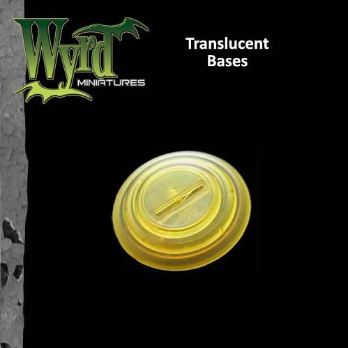 Malifaux: (Bases) Gold Translucent 50mm (3)