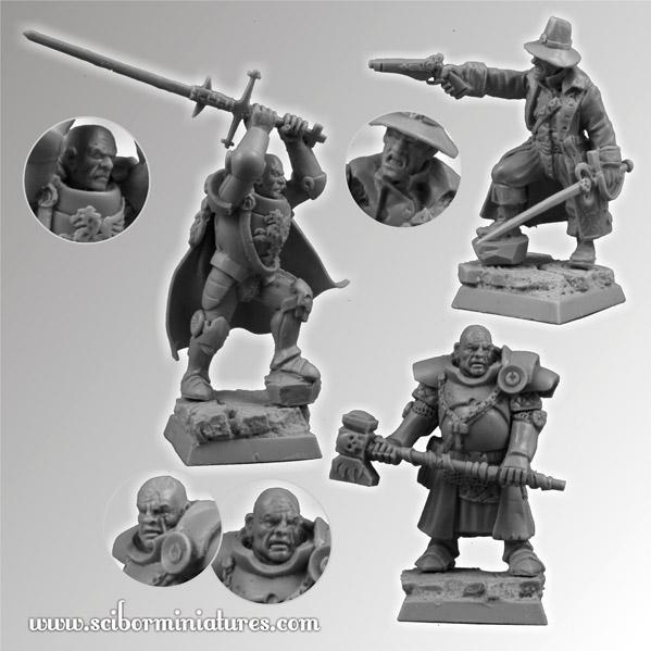 28mm Fantasy Miniatures: Fantasy Characters set 1