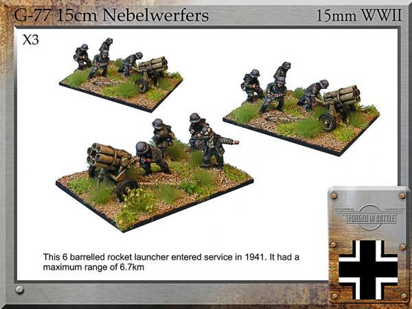 Forged in Battle (15mm WWII): German 15cm Nebelwerfer