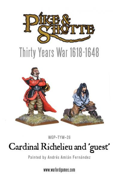28mm Pike & Shotte: Cardinal Richelieu; The Red Eminence