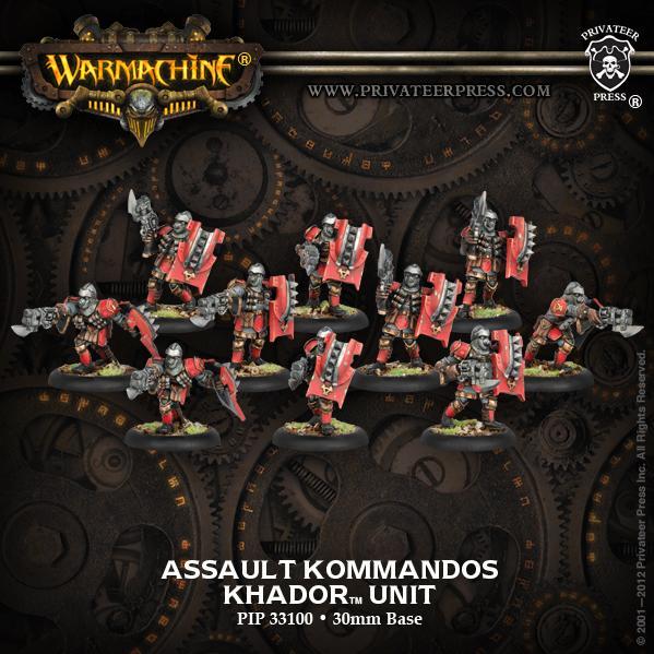 Warmachine: (Khador) Assault Kommandos Unit (10)