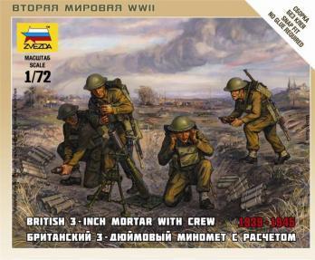 20mm World War II: British Mortar with Crew (1939 - 1942)