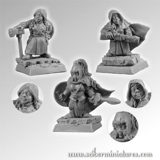 28mm Fantasy Miniatures: Dwarves Female