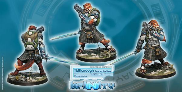 Infinity (#097) McMurrough, Mercenary Dog-Warrior (Templar CCW)