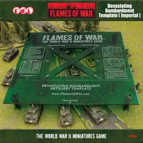 Flames of War: Green Devastating Bombardment Template (Imperial)
