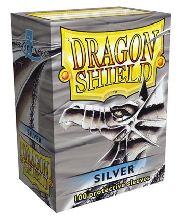 Dragon Shields: Silver Card Sleeves (100)