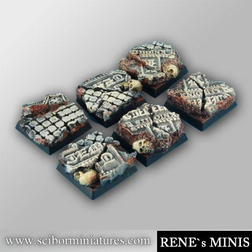 Square Bases: Templar ruins 20mm square bases