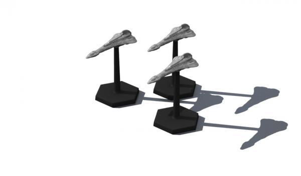 Traveller Miniatures: Zhdavidlits Light Cruiser (3)