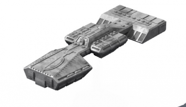 Traveller Miniatures: Plankwell Dreadnought (1)