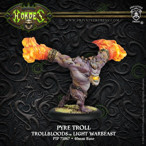 Hordes: (Trollbloods) Pyre Troll Light Warbeast