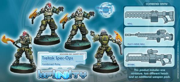 Infinity (#371) Combined Army: Treitak Spec-Ops