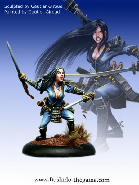 Bushido Miniatures: (Prefecture Of Ryu) Hagane, Female Samurai