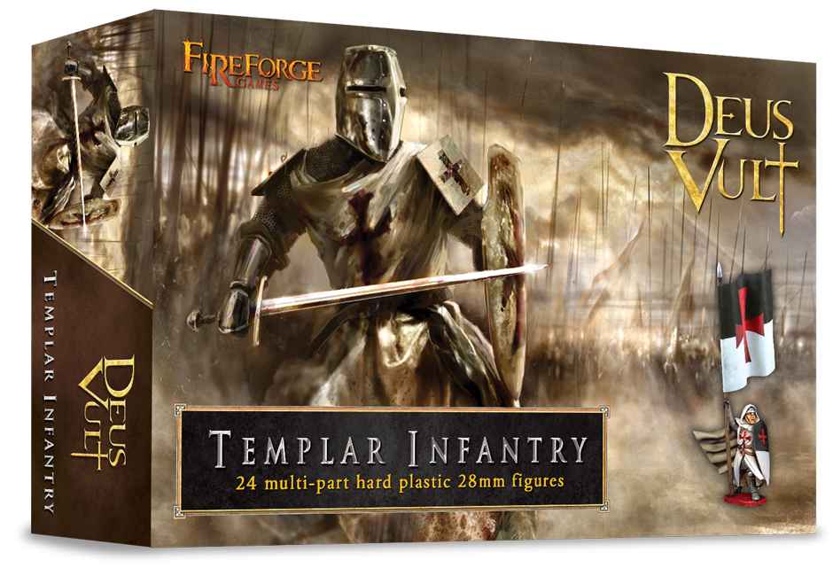28mm Deus Vult: Templar Infantry (24)