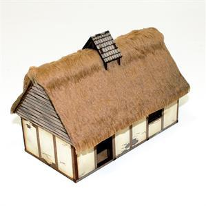 28mm Dark Age/Medieval Terrain: 28mm Pre-painted Anglo Danish Dwelling