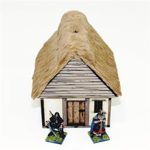 28mm Dark Age/Medieval Terrain:  Pre-painted Anglo Danish Hovel