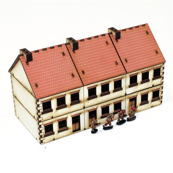 15mm European Buildings: Pre-painted Terrace Type 2