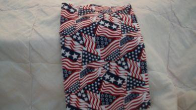 Red, White, & Blue Cotton Dice Bag (5'' X 7'')