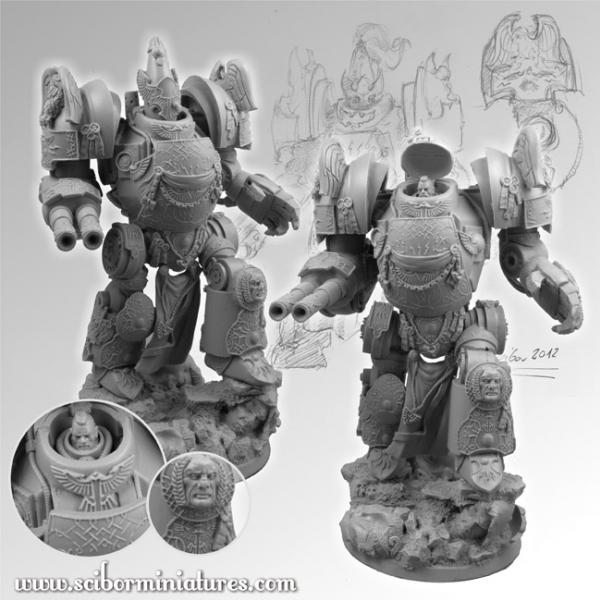 28mm Fantasy Miniatures: SF Roman Gladiator Mech Suit