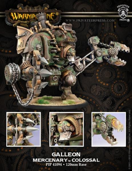 Warmachine: (Mercenaries) Galleon Colossal