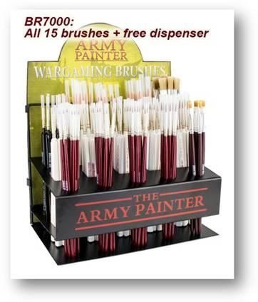 Painting Supplies: Brush Series, Full Dispenser (12 different/105 pcs)