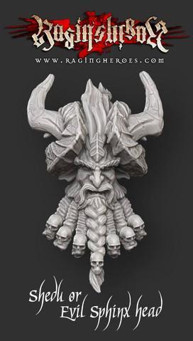 Raging Heroes: Shedu / Sphinx head
