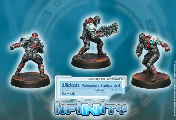 Infinity (#376) Nomads: Wildcats, Polyvalent Tactical Unit (Spitfire)